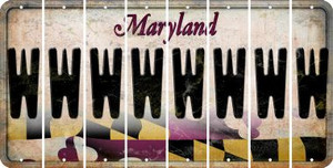 Maryland W Cut License Plate Strips (Set of 8) LPS-MD1-023
