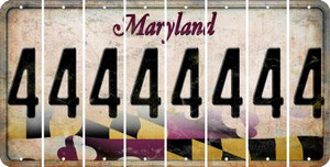 Maryland 4 Cut License Plate Strips (Set of 8) LPS-MD1-031