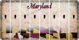 Maryland APOSTROPHE Cut License Plate Strips (Set of 8) LPS-MD1-038