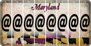 Maryland ASPERAND Cut License Plate Strips (Set of 8) LPS-MD1-039