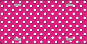 Pink White Polka Dot Wholesale Metal Novelty License Plate