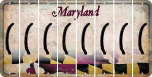 Maryland LEFT PARENTHESIS Cut License Plate Strips (Set of 8) LPS-MD1-045