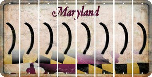 Maryland RIGHT PARENTHESIS Cut License Plate Strips (Set of 8) LPS-MD1-048