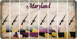 Maryland M16 RIFLE Cut License Plate Strips (Set of 8) LPS-MD1-052