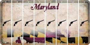 Maryland PISTOL Cut License Plate Strips (Set of 8) LPS-MD1-053