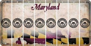 Maryland 2ND AMENDMENT Cut License Plate Strips (Set of 8) LPS-MD1-056