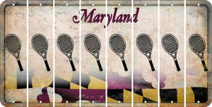 Maryland TENNIS Cut License Plate Strips (Set of 8) LPS-MD1-064