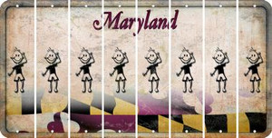 Maryland TEEN BOY Cut License Plate Strips (Set of 8) LPS-MD1-068