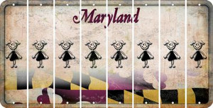 Maryland TEEN GIRL Cut License Plate Strips (Set of 8) LPS-MD1-069