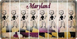 Maryland DAD Cut License Plate Strips (Set of 8) LPS-MD1-071