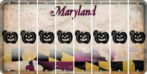 Maryland PUMPKIN Cut License Plate Strips (Set of 8) LPS-MD1-075