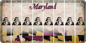 Maryland SANTA Cut License Plate Strips (Set of 8) LPS-MD1-078