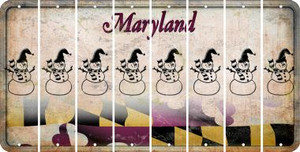 Maryland SNOWMAN Cut License Plate Strips (Set of 8) LPS-MD1-079