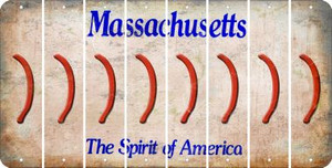 Massachusetts RIGHT PARENTHESIS Cut License Plate Strips (Set of 8) LPS-MA1-048