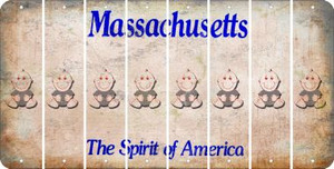 Massachusetts BABY BOY Cut License Plate Strips (Set of 8) LPS-MA1-066
