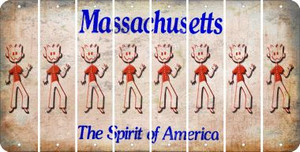 Massachusetts DAD Cut License Plate Strips (Set of 8) LPS-MA1-071