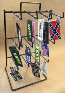 Counter Top Wire Key Chain 12 Peg Display Rack