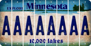 Minnesota A Cut License Plate Strips (Set of 8) LPS-MN1-001