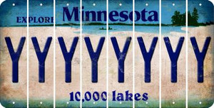 Minnesota Y Cut License Plate Strips (Set of 8) LPS-MN1-025