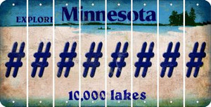 Minnesota HASHTAG Cut License Plate Strips (Set of 8) LPS-MN1-043