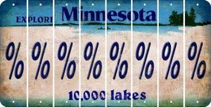 Minnesota PERCENT SIGN Cut License Plate Strips (Set of 8) LPS-MN1-046