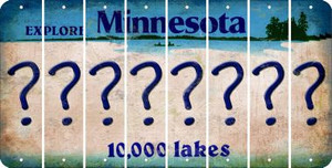 Minnesota QUESTION MARK Cut License Plate Strips (Set of 8) LPS-MN1-047