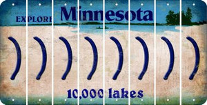Minnesota RIGHT PARENTHESIS Cut License Plate Strips (Set of 8) LPS-MN1-048