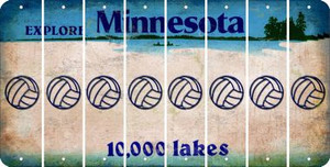 Minnesota VOLLEYBALL Cut License Plate Strips (Set of 8) LPS-MN1-065