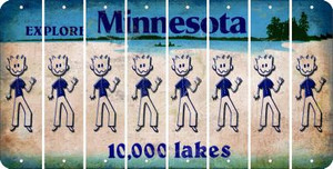 Minnesota DAD Cut License Plate Strips (Set of 8) LPS-MN1-071