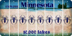 Minnesota SPIDER Cut License Plate Strips (Set of 8) LPS-MN1-076