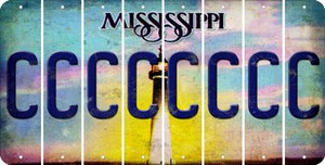 Mississippi C Cut License Plate Strips (Set of 8) LPS-MS1-003