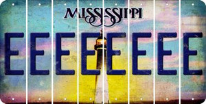 Mississippi E Cut License Plate Strips (Set of 8) LPS-MS1-005