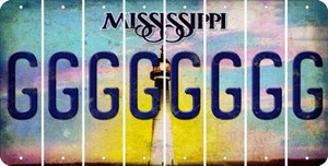 Mississippi G Cut License Plate Strips (Set of 8) LPS-MS1-007