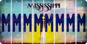 Mississippi M Cut License Plate Strips (Set of 8) LPS-MS1-013
