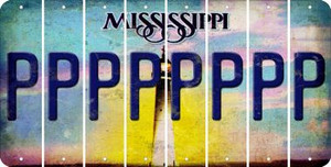 Mississippi P Cut License Plate Strips (Set of 8) LPS-MS1-016