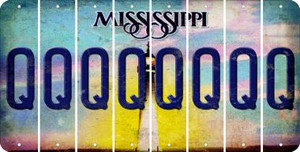 Mississippi Q Cut License Plate Strips (Set of 8) LPS-MS1-017