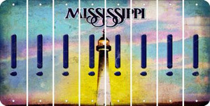 Mississippi EXCLAMATION POINT Cut License Plate Strips (Set of 8) LPS-MS1-041