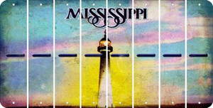 Mississippi HYPHEN Cut License Plate Strips (Set of 8) LPS-MS1-044