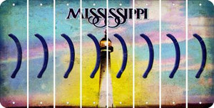 Mississippi RIGHT PARENTHESIS Cut License Plate Strips (Set of 8) LPS-MS1-048