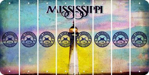 Mississippi 2ND AMENDMENT Cut License Plate Strips (Set of 8) LPS-MS1-056