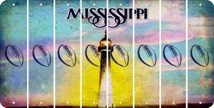 Mississippi FOOTBALL Cut License Plate Strips (Set of 8) LPS-MS1-060