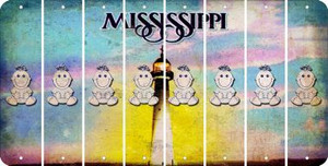 Mississippi BABY GIRL Cut License Plate Strips (Set of 8) LPS-MS1-067