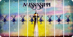 Mississippi TEEN GIRL Cut License Plate Strips (Set of 8) LPS-MS1-069
