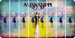 Mississippi MOM Cut License Plate Strips (Set of 8) LPS-MS1-070