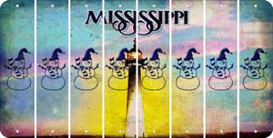 Mississippi SNOWMAN Cut License Plate Strips (Set of 8) LPS-MS1-079