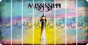 Mississippi ANCHOR Cut License Plate Strips (Set of 8) LPS-MS1-093