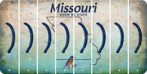 Missouri RIGHT PARENTHESIS Cut License Plate Strips (Set of 8) LPS-MO1-048