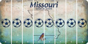 Missouri SOCCERBALL Cut License Plate Strips (Set of 8) LPS-MO1-061