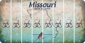 Missouri BABY BOY Cut License Plate Strips (Set of 8) LPS-MO1-066