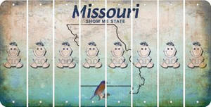 Missouri BABY GIRL Cut License Plate Strips (Set of 8) LPS-MO1-067
